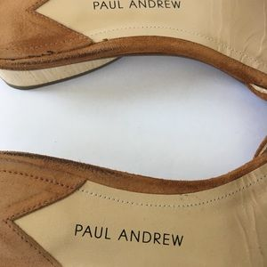 Paul Andrew Shoes - Paul Andrew Lina caramel suede slides